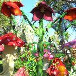 אירוע קונספט - חצר של צמחים ענקיים