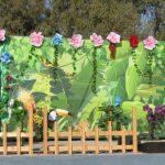 אירוע קונספט - קיר פרחים
