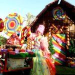 תפאורה לאירועים - נסיכה ועגלת הממתקים